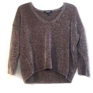 Express crushes velvet cropped sweater